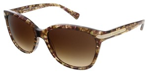 Coach Coach Confetti Light Brown Wayfarer Sunglasses