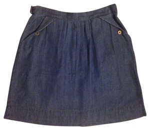 Urban Outfitters Nautical Chambray Mini Skirt Denim