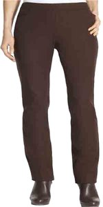 Chico's Slim Frount Cigerate Chocolate Ankel Length Cropped Size 16 Side Zip Hidden Zip Low Rise Slim Fit Collection New Tags Skinny Pants Deep Brown