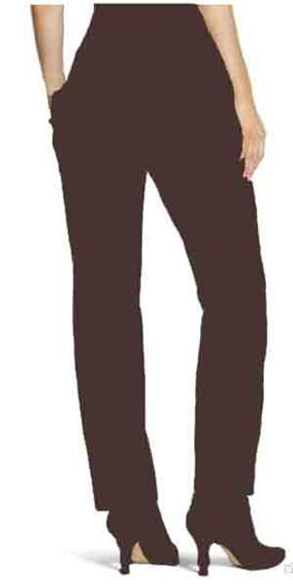 Chico's Slim Frount Cigerate Chocolate Ankel Length Cropped Size 16 Side Zip Hidden Zip Low Rise Slim Fit Collection New Tags Skinny Pants Deep Brown Image 1