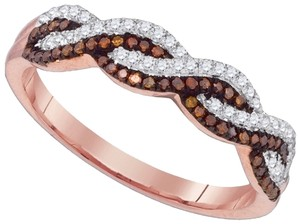 Other Ladies Luxury Designer 10k Rose Gold 0.25 Cttw Red Diamond Micro-Pave Fashion Ring By BrianGdesigns