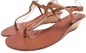 Tory Burch Wedge Thong Sandals Tan Wedges