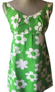 short dress Green/white on Tradesy