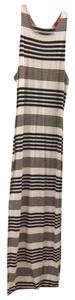 White with Black Stripes Maxi Dress by DV by Dolce Vita