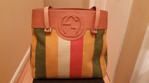 Gucci Studded Leather Tote in Multi