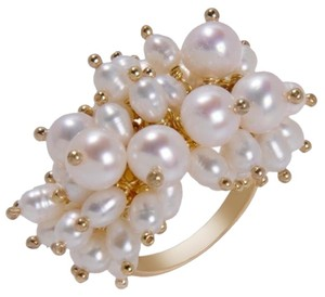 Dalia Jewelry Collection Dalia Jewelry Collection Cultured Freshwater Pearl Cluster Ring - Size 5