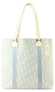 Dior Pvc Vertical Shopper Tote in Blue