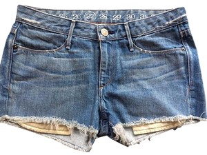 Earnest Sewn Cut-off Denim Shorts-Light Wash