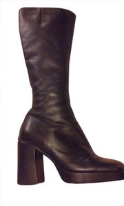 ALDO Tall Heel Leather 6 Black Boots