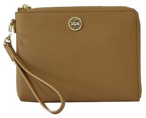 Tory Burch Roslyn Wristlet Brown Clutch