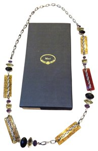 MAWI Mawi 925 Silver Set w/ Quartz and Amethyst Necklace