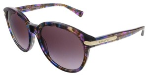 Coach Coach Confeti Purple Round Sunglasses