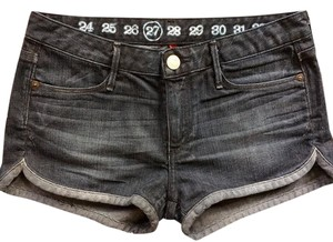 Earnest Sewn Womens Shorts Shorts Denim Shorts-Dark Rinse