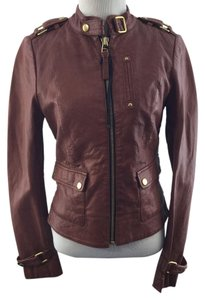Mackage Dark Brick Leather Jacket