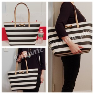Kate Spade Neutral Oversized Large Tote in Black