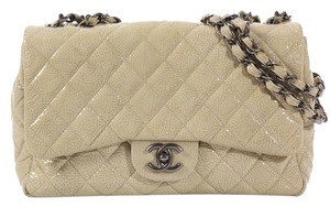 Chanel Quilted Cc Ch.k0617.11 Tan Shoulder Bag