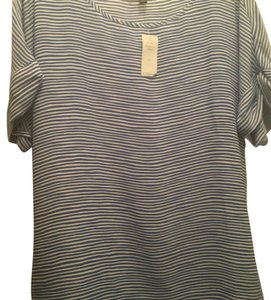 Banana Republic Top Blue a d white striped