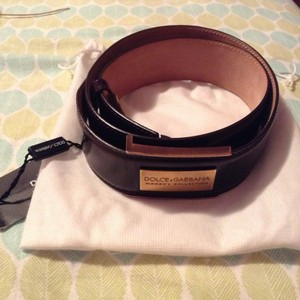D&G D&G Leather Belt Size 80 (32 inches)