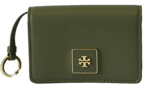 Tory Burch New TORY BURCH *Clara Key Ring Card Case, Green