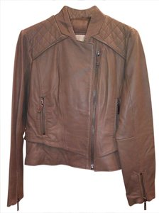 Michael Kors Cognac Leather Jacket
