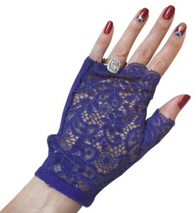La Perla La Perla Purple Fingerless Lace Gloves