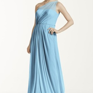 David's Bridal Capri Blue Dress