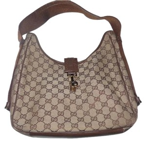 Gucci Jackie O Brass Hardware Unique Shape Size Mint Condition Hobo Bag