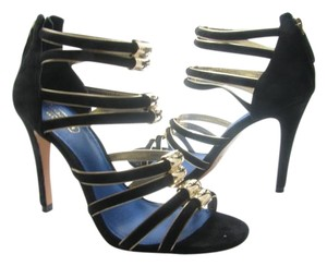 Coach Lanice Suede Heel BLACK Sandals