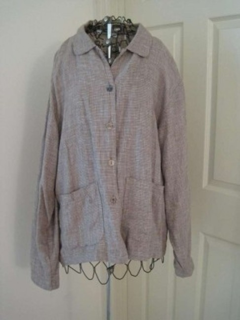 Unknown Linen Button Down Casual Spring Summer Cardigan