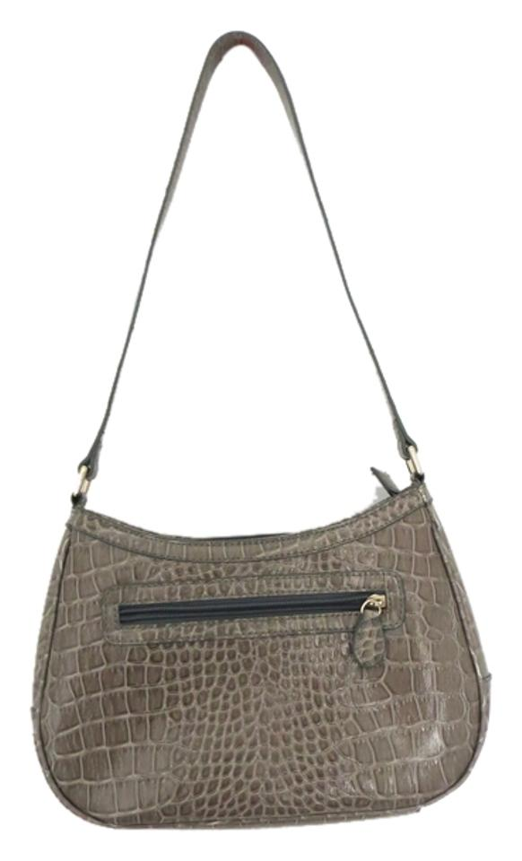 fc04c8f81d59 Liz Claiborne Alligator Vegan Gray Faux Leather Shoulder Bag - Tradesy