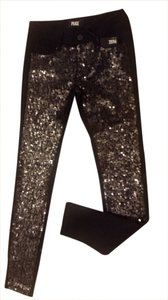 Paige Premium Denim Skinny Pants Black; Sequins