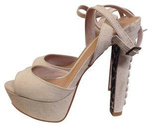 Marco Santi Suede Ankle Button nude Sandals