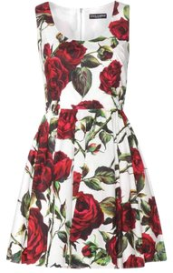 Dolce&Gabbana short dress Rose print on Tradesy