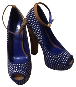 Liliana Dark blue Platforms