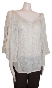 Anthropologie Sparkled Crincled Night Out Date Night Top BEIGE