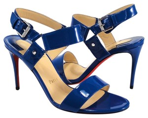 Christian Louboutin Sova Spike 39.5 blue Sandals