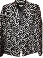 Anne Klein New With Tags Zebra Black and White Jacket
