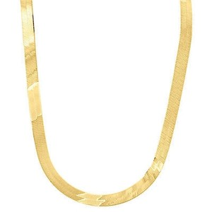Jewelry For Less 10k Yellow Gold Solid Necklace Silky Herringbone 5.75mm Chain Inches