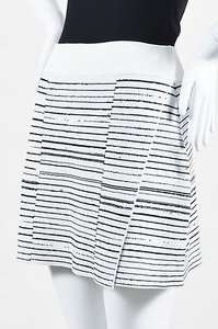 A.L.C. Black Stretch Knit Mini Skirt White