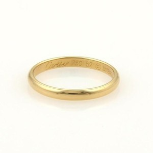 Cartier Cartier 18k Yellow Gold 2.5mm Plain Dome Wedding Band Ring Eu 52-us