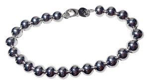 Other New Sterling Silver Filled 6mm Round Ball Bracelet J2771