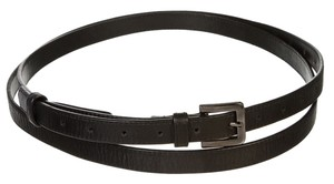 Robert Rodriguez Robert Rodriguez Black Leather Skinny Belt (Size 6)