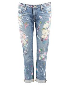 Polo Ralph Lauren Rl Paint Splattered Astor Boyfriend Cut Jeans-Distressed