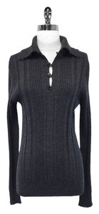 Dolce & Gabbana Dolce & Gabbana - Gray Wool Ribbed-Knit Sweater Sz S