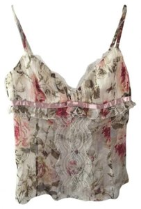 Dolce&Gabbana Silk Lace Top Pink Ivory