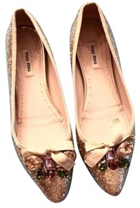 Miu Miu Jeweled Flat GOLD Flats