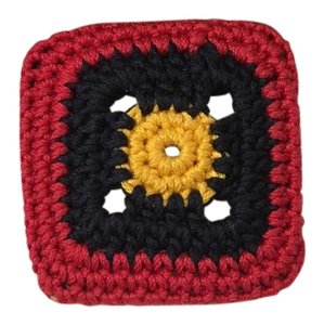 Prada Prada Multicolor Square Woven Brooch
