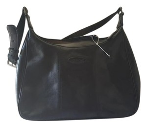 Oroton Leather Brown Satchel in blck