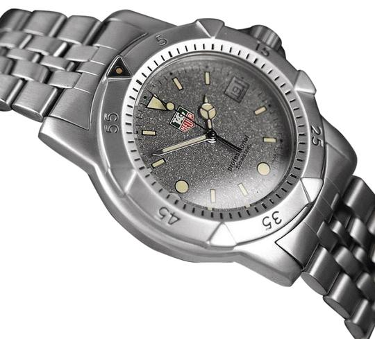 Tag heuer tag heuer professional 1500 mens diver granite dial watch stainless for Tag heuer divers watch