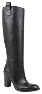 Gucci Leathersuede Tall Knee Black Leather/1000 Boots